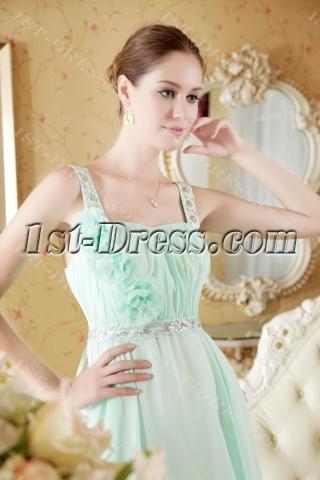 Beautiful Sage Straps Maternity Prom Dress Cheap