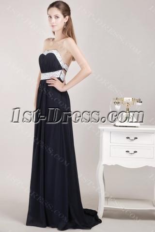 Black Celebrity Dresses Red Carpet with Open Back