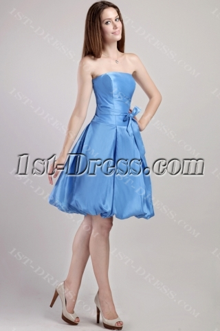 Blue Cute Short Quinceanera Dress 2310
