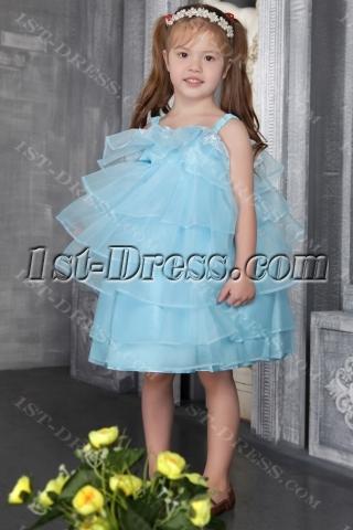 Blue Organza Weddiing Dress Toddlers 2549