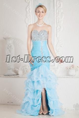 Blue Sheath Luxury Quinceanera Dress 2013