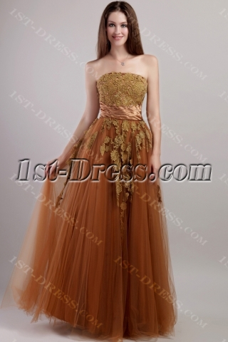 brown long cheap quinceanera dress with corset 20911st