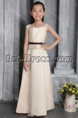 Champagne Bridesmaid Dresses Junior Girls 2676