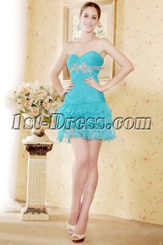 Cute Teal Mini Sweet 16 Dress Cheap