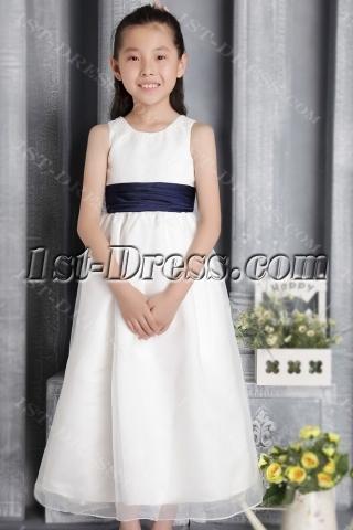 Elegant Cheap Flower Girl Dress with Bow 2655