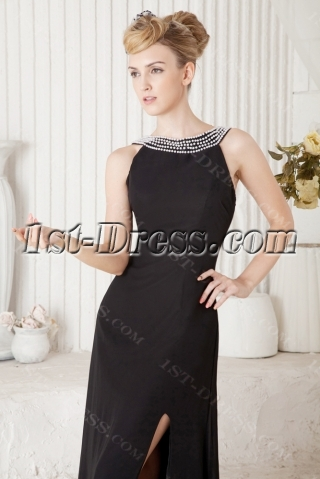 Elegant Long Black Prom Dresses 2013 Cheap