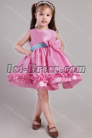 Fuchsia and Blue Flower Girl Dresses by Sweet Beginnings 2364