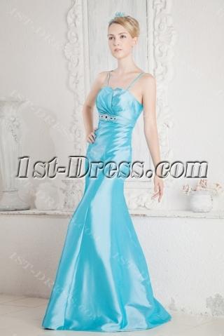 Glamorous Blue Sheath 2013 Prom Dress
