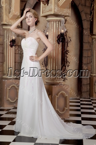 Gorgeous Chiffon Column Princess Bridal Gown Spring