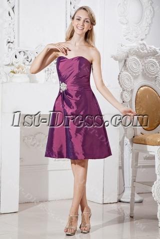 Grape Cheap Graduation Dresses for Juniors