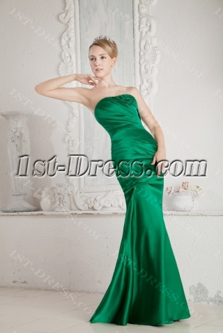 Green Sheath Evening Party Dress with Sweetheart