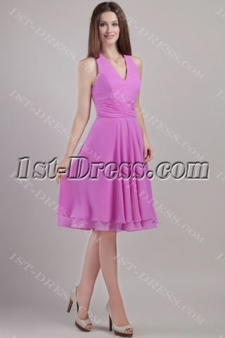 Halter Short Lilac Juniors Homecoming Dresses 2258
