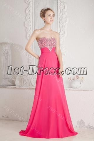 Hot Pink Princess Prom Dress 2013