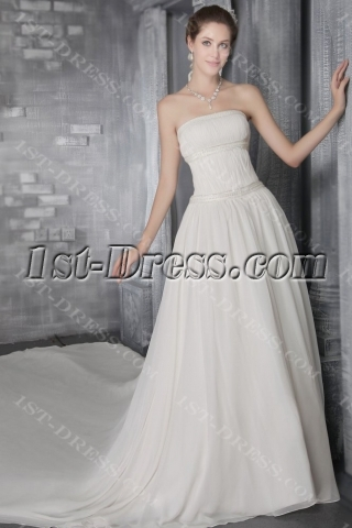 Ivory Chiffon Casual Wedding Dresses for Fall 2758