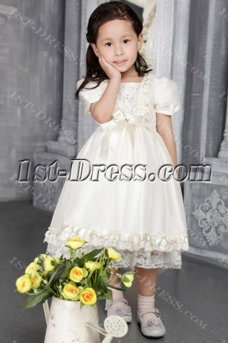 Ivory Flower Girl Dresses for Toddlers and Infants 2542