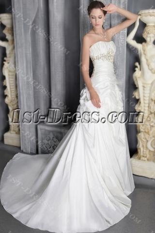 Ivory Long Outdoor Wedding Dresses 2012 Long 2795