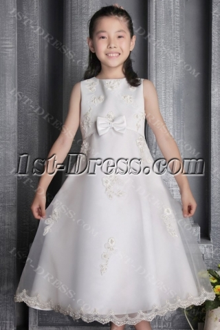 Ivory Pretty Discount Party Dress for Girl 2600
