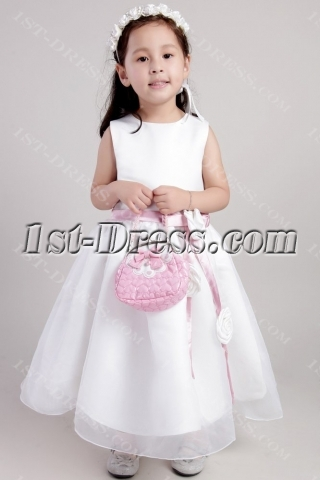 Ivory Princess Flower Girl Wedding Dresses 2344