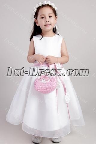 Ivory Princess Flower Girl Wedding Dresses 2344