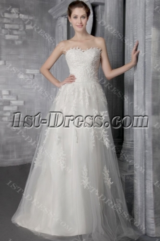 Ivory Strapless Cheap Princess Bridal Gowns 2606