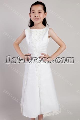 Ivory Tea Length Toddler Mini Bridal Dress 2155