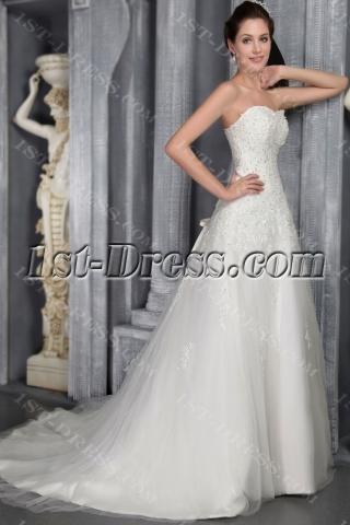 Lace Wedding Dress for Mature Brides 2533