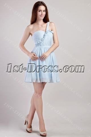 Light Blue Junior Prom Dresses Short Cheap 2291