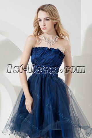 Lovely Navy Blue Short Graduation Dresses