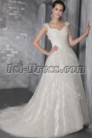 Luxurious Bridal Gown 2013 Fall with Low Back 2682