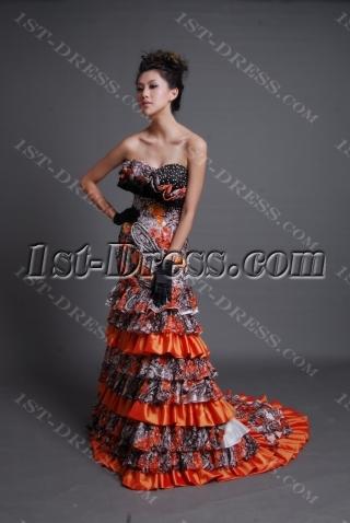 Mermaid / Trumpet Strapless Sweetheart Tea Length Long / Floor-Length Satin Prom Dress 7083-1