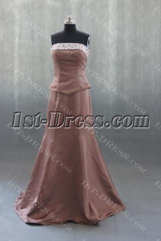 Mermaid Sweep Satin Prom Dress With Ruffle Beading Sequins 03067