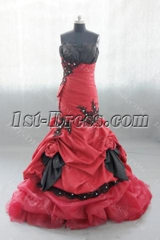 Mermaid Sweetheart Floor-Length Taffeta Organza Ball Gown 02584