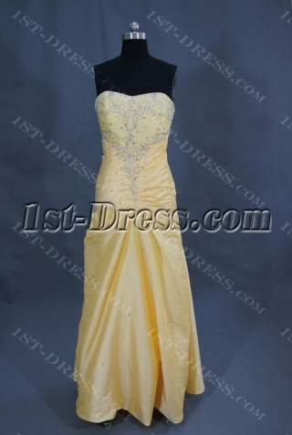 Mermaid Sweetheart Sweep Taffeta Prom Dress With Ruffle Beading Sequins 02221