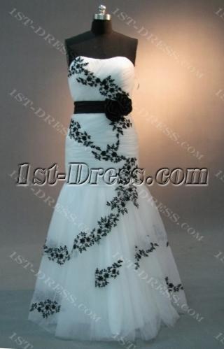 Mermaid Trumpet Scalloped-Edge Floor-Length Satin Tulle Prom Dress 2054