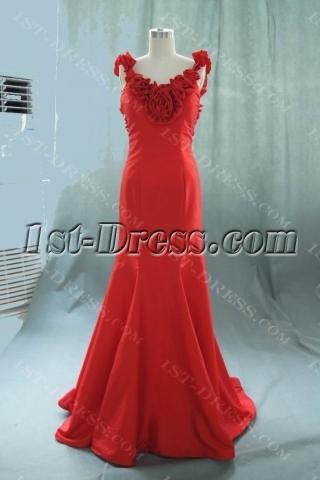 Mermaid Trumpet Strapless Long Floor-Length Taffeta Bridal Gowns 05529