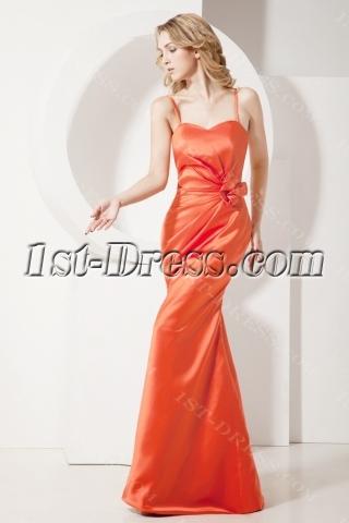 Orange Sheath Junior Prom Dresses 2013
