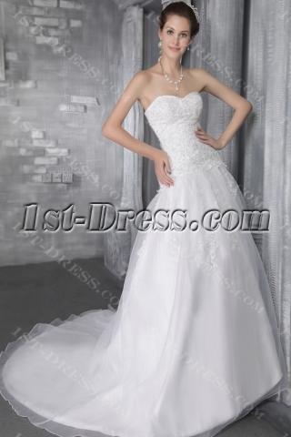 Organza Beautiful Sweetheart Bridal Gowns 2779