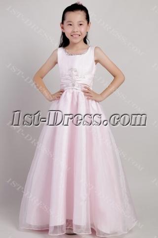 Pink Long Infant Flower Girl Dresses 2114