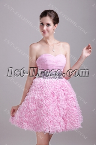 Pink Sweetheart Short Quinceanera Dress 1259