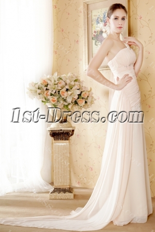 Popular One Shoulder Pink Homecoming Dress