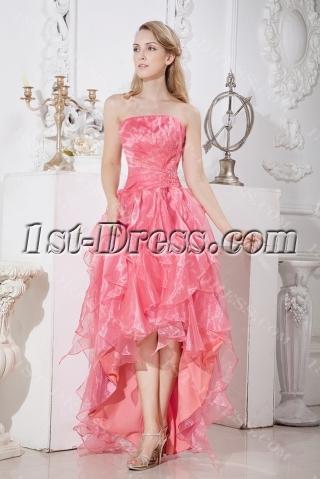 Pretty High-low Hem Graduation Dress