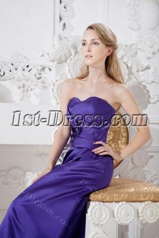 Purple Elegant Long Bridesmaid Dress Discount