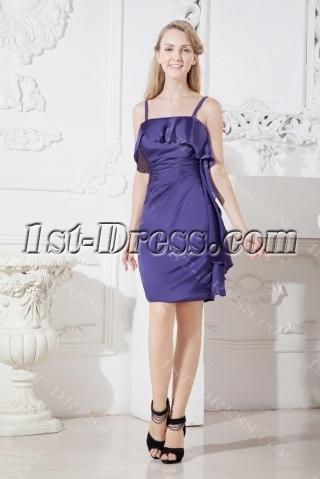 Purple Spaghetti Straps Short of Groom Dresses