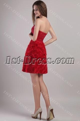 Red Short Floral Cocktail Dress Sale 2232