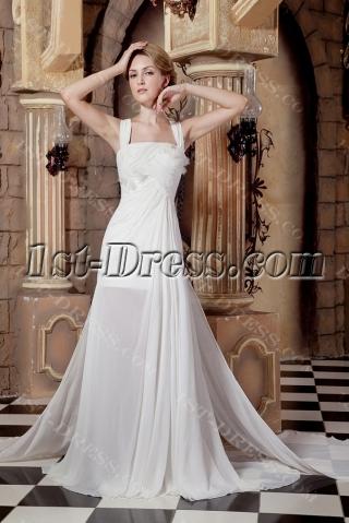 Romantic Spring Beach Wedding Dress With Slit Front 1st
