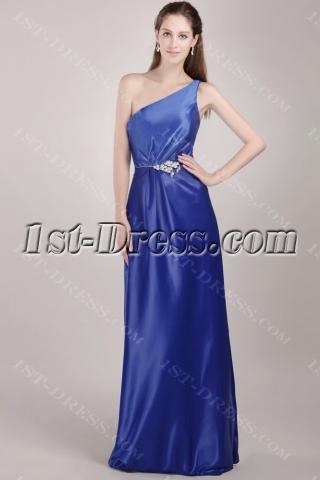 Royal Blue Discount One Shoulder Bridesmaid Dress