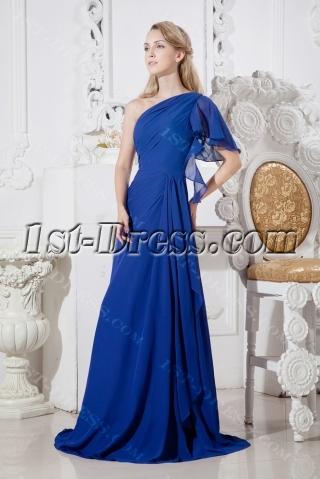 Royal Long One Shoulder Evening Dresses for Women
