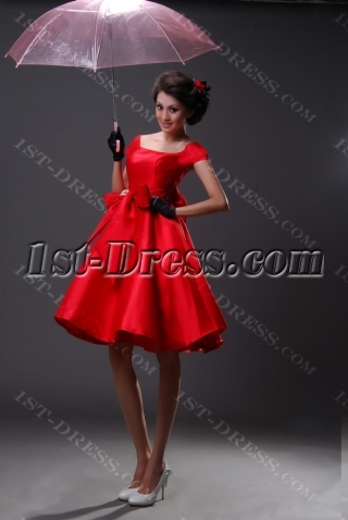 Sheath / Column Off the Shoulder Short / Mini Satin Homecoming Dress H967