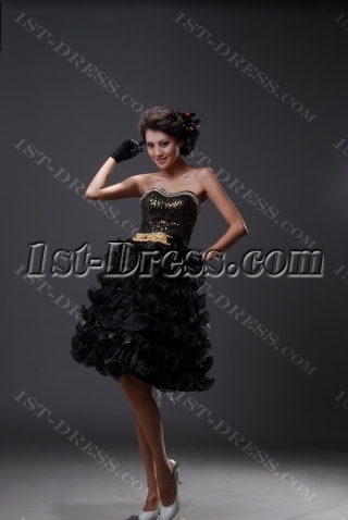 Sheath / Column Strapless Sweetheart Short / Mini Satin Organza Homecoming Dress H3094