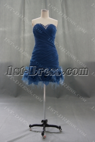 Sheath / Column Tight Short / Mini Satin Organza Homecoming Dress 05872